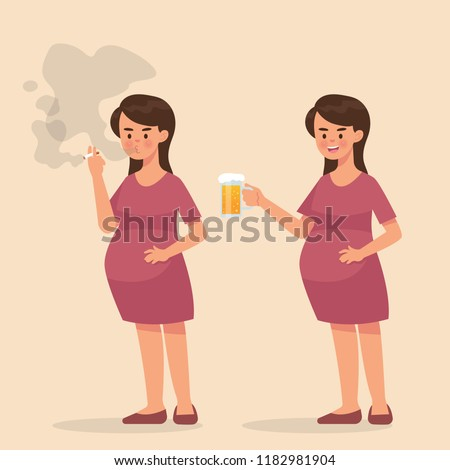 vector illustration pregnant