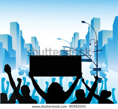 Vector Illustration:Protes t - stock vector