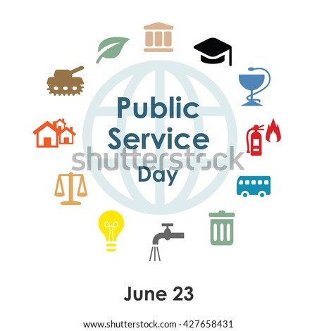 vector illustration / public service day in june Stock photo ©