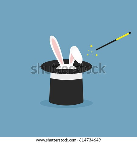 vector illustration rabbit in