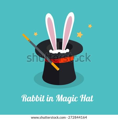 vector illustration rabbit in