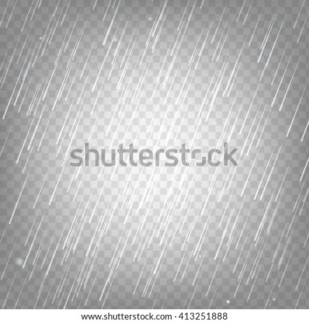 vector illustration rain