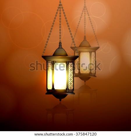 Vector Illustration Ramadan Kareem Lantern. #375847120