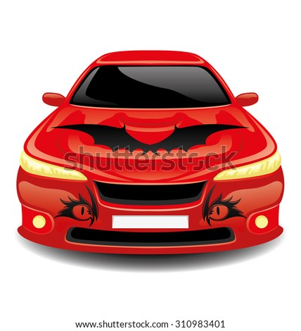 vector illustration red car