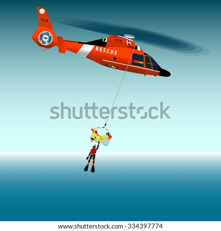 vector illustration red rescue