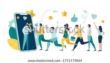 Vector illustration, referral marketing concept, friends loyalty program, promotion method, customer acquisition vector