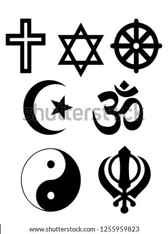 Vector illustration religious symbols