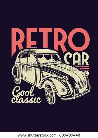 Royaltyfree Vector Template Design Graphics For T Stock - Car show t shirt design ideas