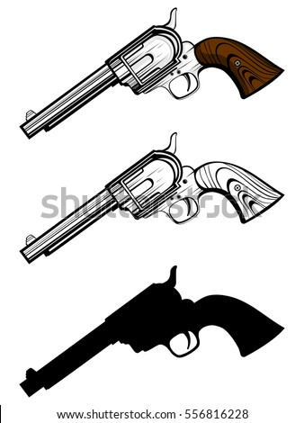 vector illustration revolvers