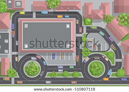 vector illustration road and