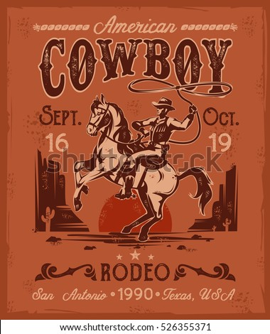 vector illustration rodeo...