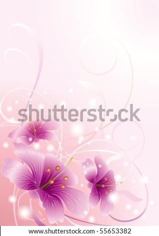 Vector illustration. Romantic flower background
