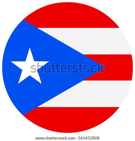 Shutterstock Vector illustration round Puerto Rico flag icon isolated on white background. Puerto-rico flag button