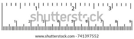 Vector illustration ruler icon size indicator units isolated on white background.