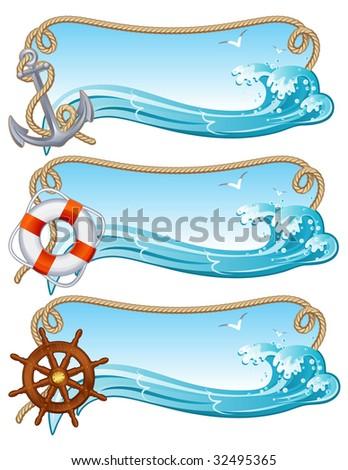 Vector illustration - sailing banners