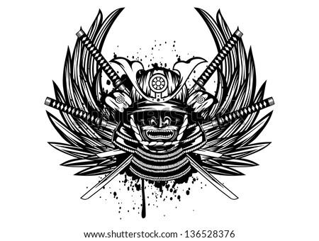 vector illustration samurai