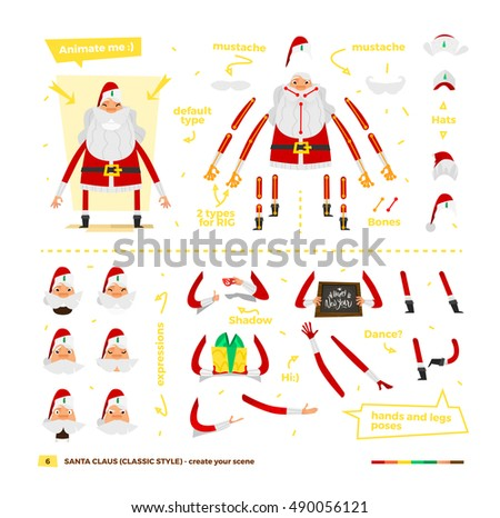 vector illustration santa claus