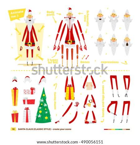 vector illustration santa claus