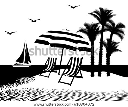vector illustration sea and