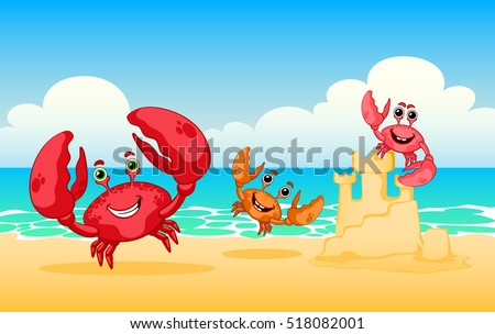 vector illustration sea animals
