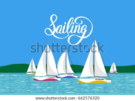 vector illustration sea view
