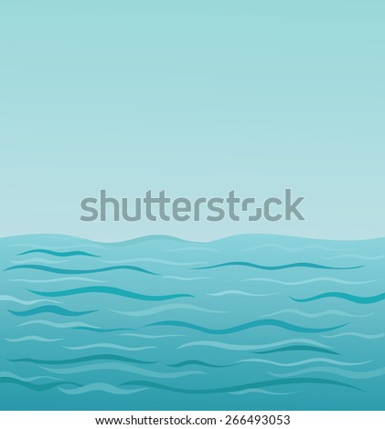 vector illustration  sea water
