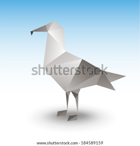 Vector illustration - Seagull
