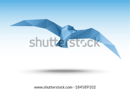Vector illustration - Seagull (flying bird)