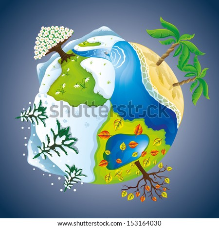 vector illustration seasons