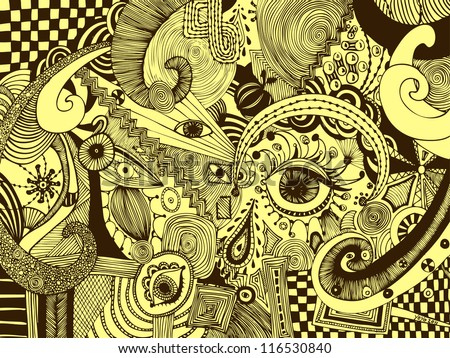 vector illustration  sepia