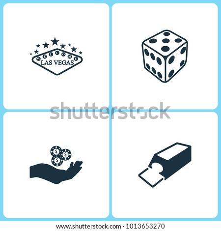 vector illustration set casino