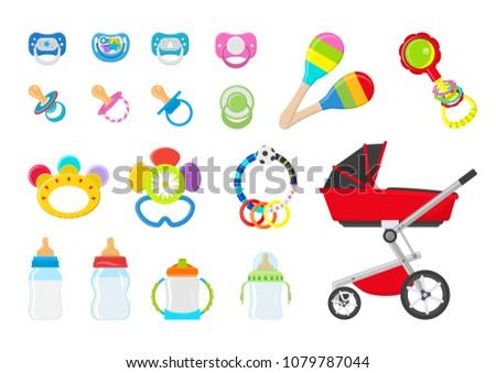 Vector illustration. Set for baby.