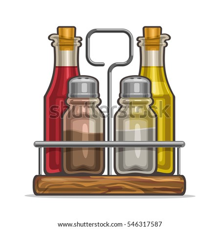 vector illustration set glass...