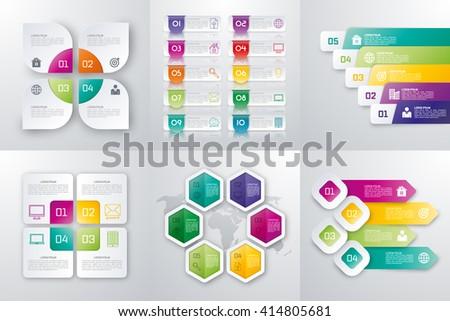 Vector illustration set infographics. Template for brochure, business, web design