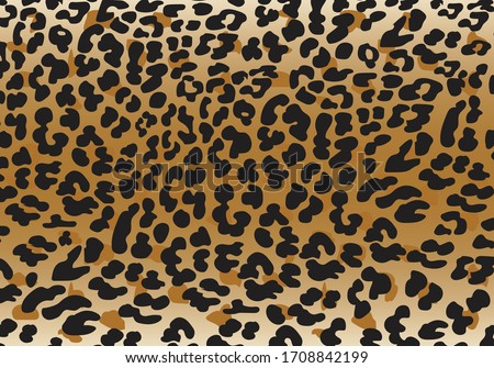 Vector illustration set of animal seamless prints. leopard texture background Foto stock ©