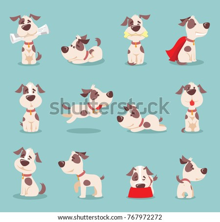 stock-vector-vector-illustration-set-of-cute-and-funny-cartoon-little-dogs-pupies