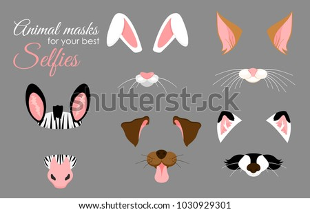 vector illustration set of cute