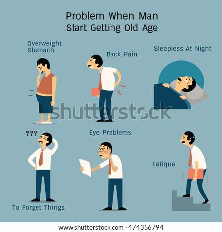 vector illustration set of man