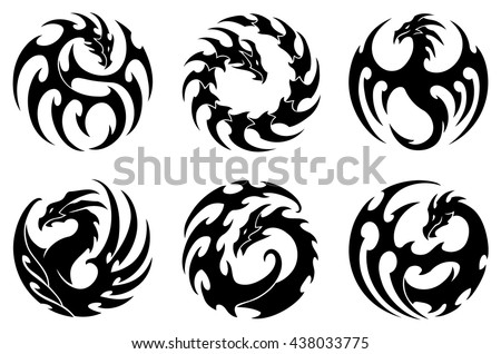Dragon Silhouette Tattoo Download Free Vector Art Stock Graphics