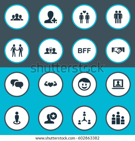 Airstock is - Vector Illustration Set Of Simple Buddies