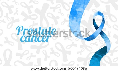vector illustration set of tape preventing the male prostate disease and cancer obstraktny symbol blue ribbon, realistic tape, and the tape symbol painted in watercolor