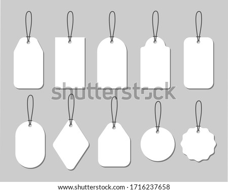 Vector illustration set of various tags