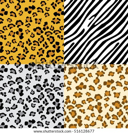 vector illustration set zebra