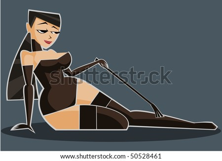 vector illustration  sexy girl
