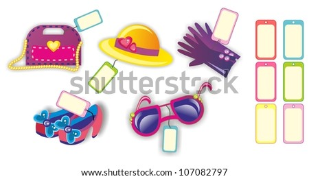 Vector illustration -shopping  icons set on white background
