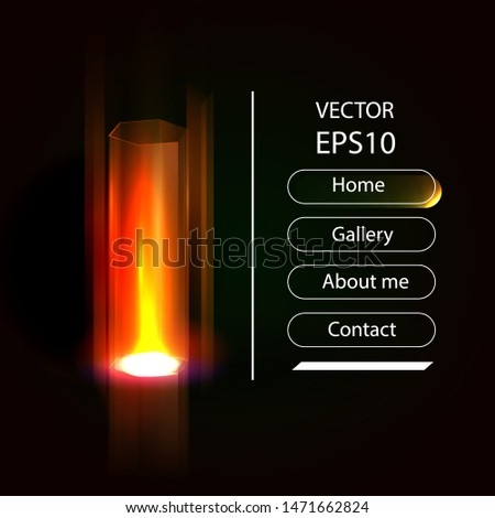Vector illustration shows the passage portal of the magical glow, future technology. Futuristic teleport.