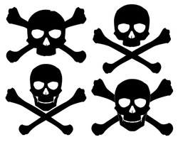Vector illustration. Silhouette of the Jolly Roger. See also these skull with crossed saber and pistol in my portfolio