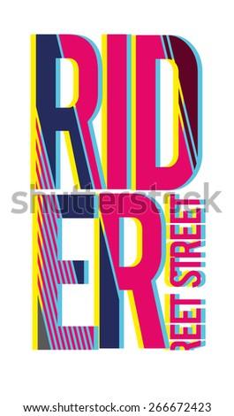 vector illustration skateboard freestyle street style legendary rider, graphics for t-shirt ,vintage design