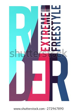 vector illustration skateboard freestyle street style legendary rider, graphics for t-shirt ,vintage design, imposed geometric dynamic pattern background