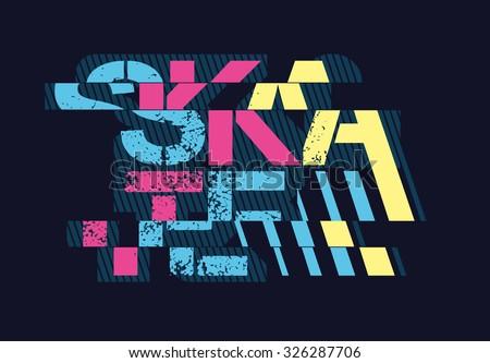 vector illustration skateboards freestyle street style legendary rider, graphics for t-shirt, vintage design,  imposed geometric dynamic pattern background